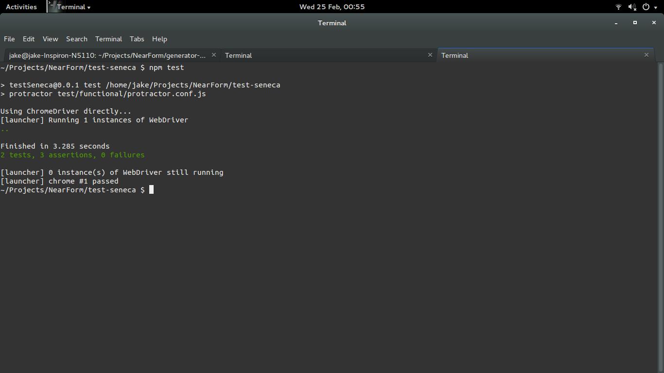 Building Your First Seneca js Application